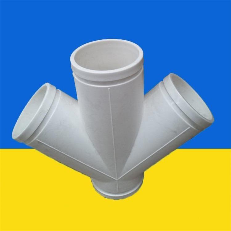HDPE沟槽式排水管 FRPP法兰式柔性承插 压盖柔性承插式连接静音排水管 旌惠