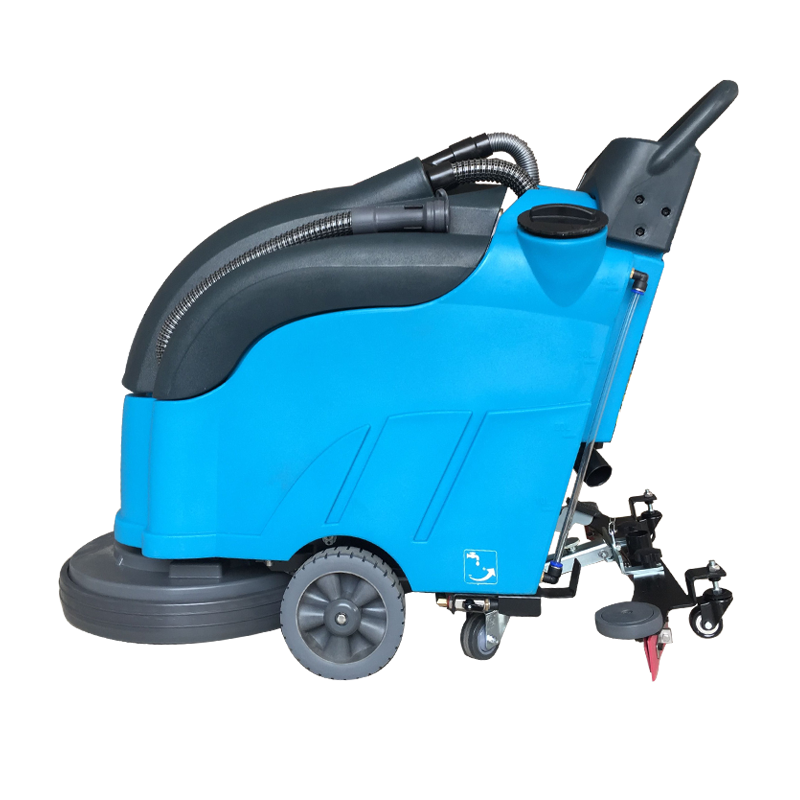 厂家直营商用路面清洁洗地机 全自动手推式洗地机山东鲁旺