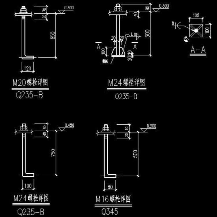 钢结构地脚螺栓 地脚螺栓 钢结构热地脚螺栓