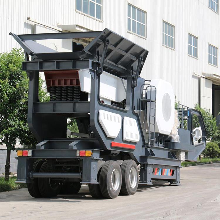 移动破碎机 鄂式移动破碎机 新型移动破碎机价格 天宇重工移动破碎机