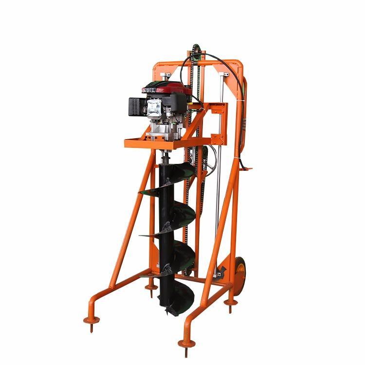 汇鑫厂家直销手扶式挖坑机 便携式手推挖坑机 7.5马力汽油挖坑机 植树挖坑机