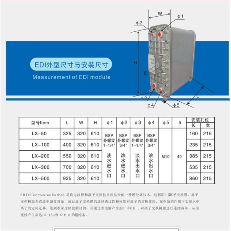 孚诺泰一吨edi净化设备沈阳净化设备纯水设备 水处理设备(图4)