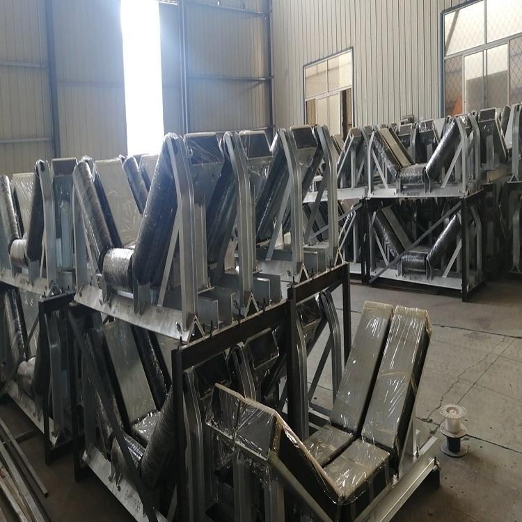 華明大型可調式調偏托輥組 皮帶托輥組發貨 托輥組 調心托輥組專業生產 歡迎來電
