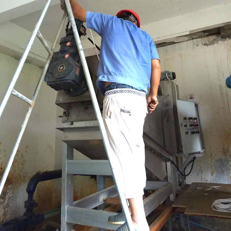 叠螺式污泥脱水压滤机 周晓畅301型皮革厂全自动叠螺式污泥脱水机价格