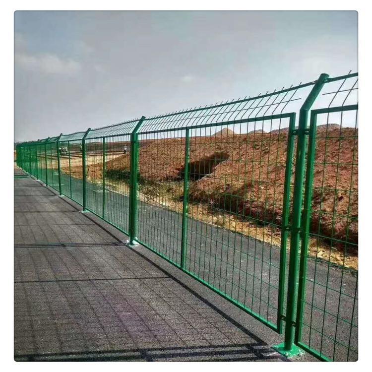 围栏网 绿色双边丝防护网 公路铁丝防护网 林瑞定制