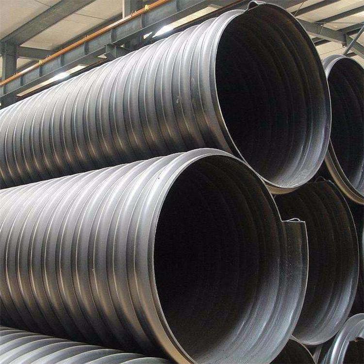 昭通HDPE钢带管规格 hdpe钢带管