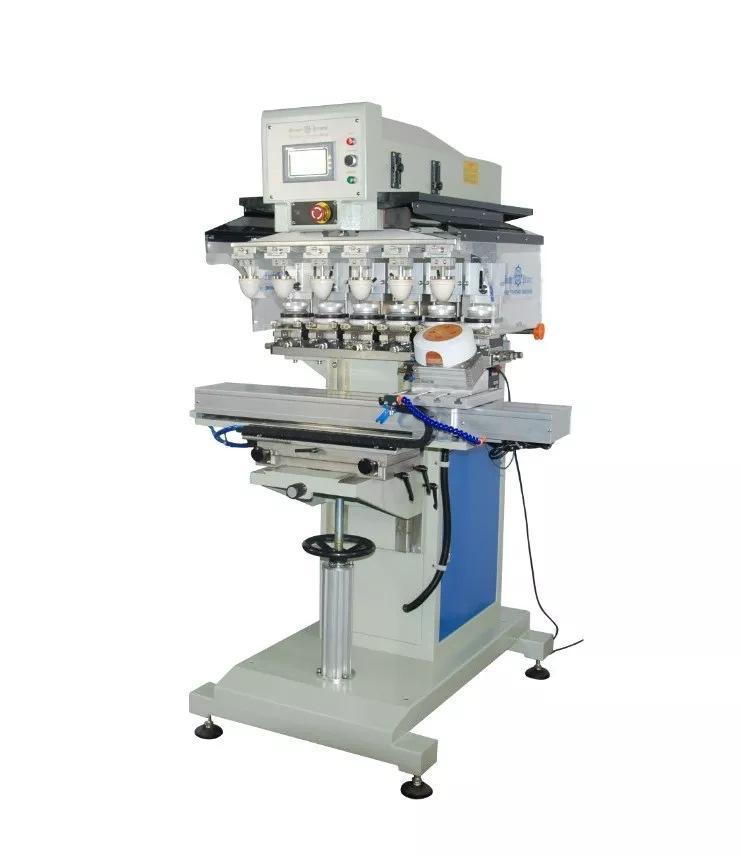 骏晖 电器外壳移印机 伺服穿梭旋转夹具六色移印机 自动旋转角度移印机