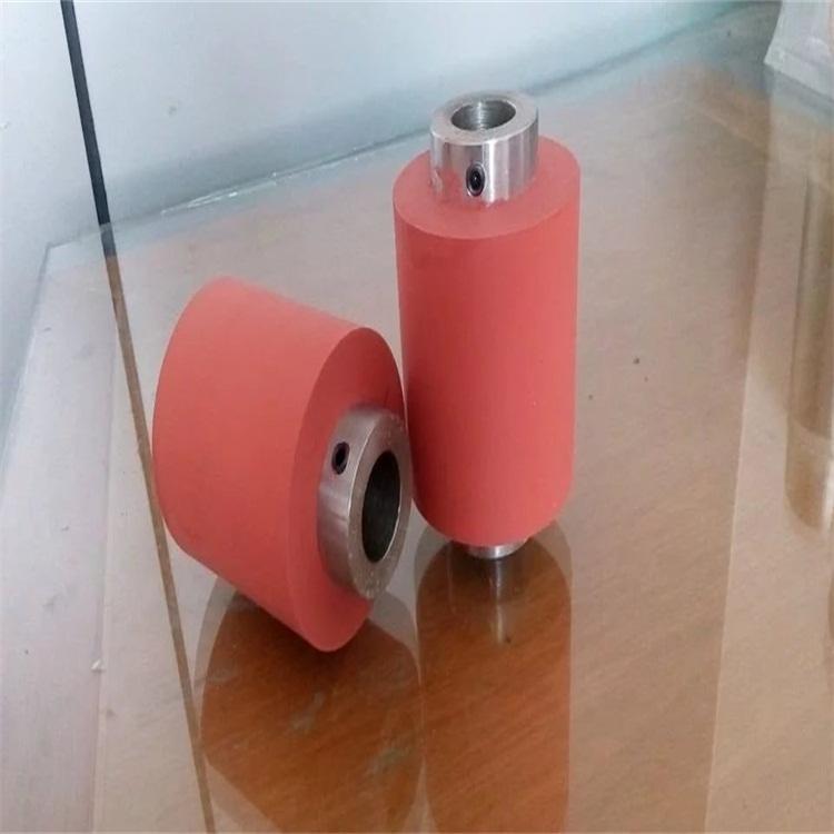 骏晖 热转印硅胶辊 铁芯包硅胶轮 硅胶辊 烫印材料