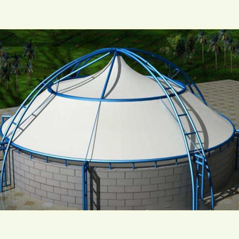 山东应帛膜结构供应污水池膜结构工程湖北膜结构污水池加盖厂家