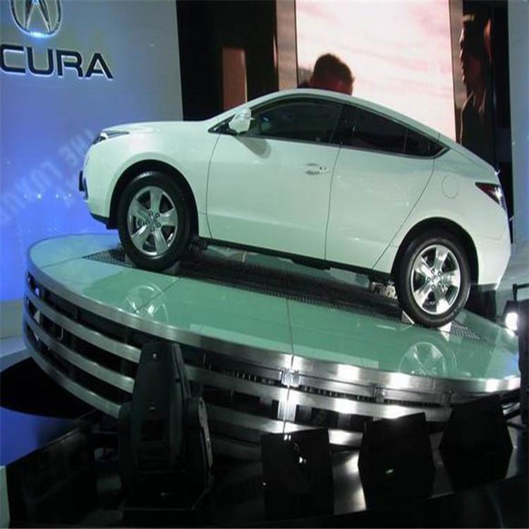 升降舞台 电动遥控大型汽车展示台 汽车旋转台 迈禾电动舞台