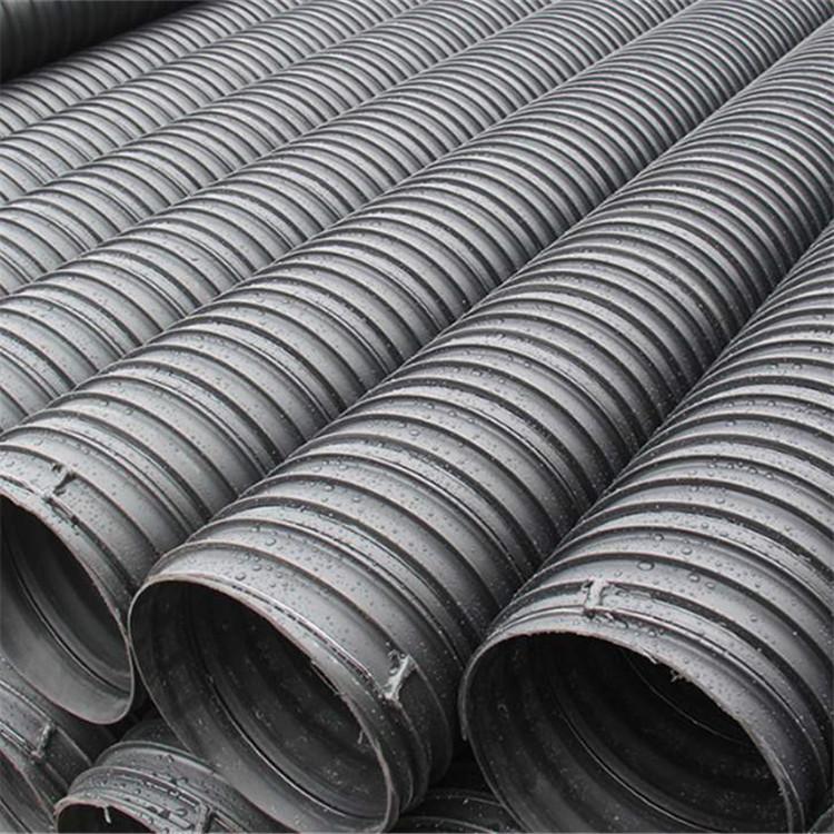 海南HDPE钢带管批发 国标HDPE钢带管