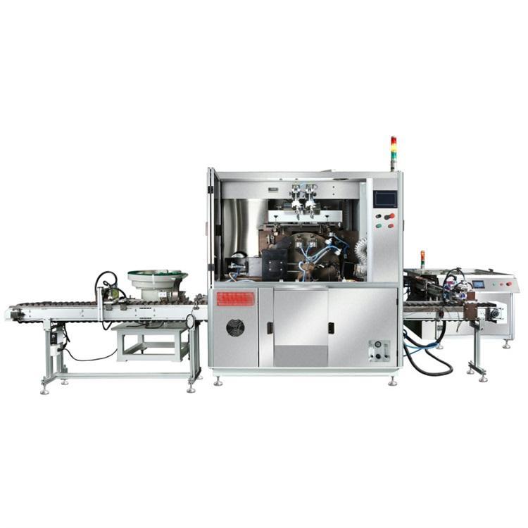 骏晖 全自动转盘丝印机 膏霜圆瓶双色三色丝印机 高速转盘丝印机厂家