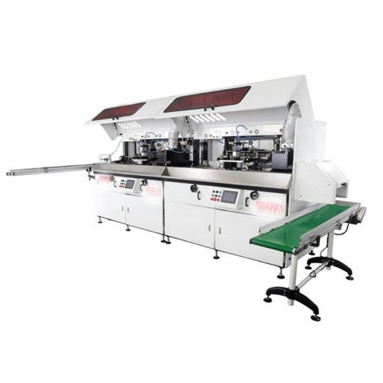 东莞骏晖全自动丝印机厂家洗发水塑料瓶丝印UV生产线自动印瓶机价格