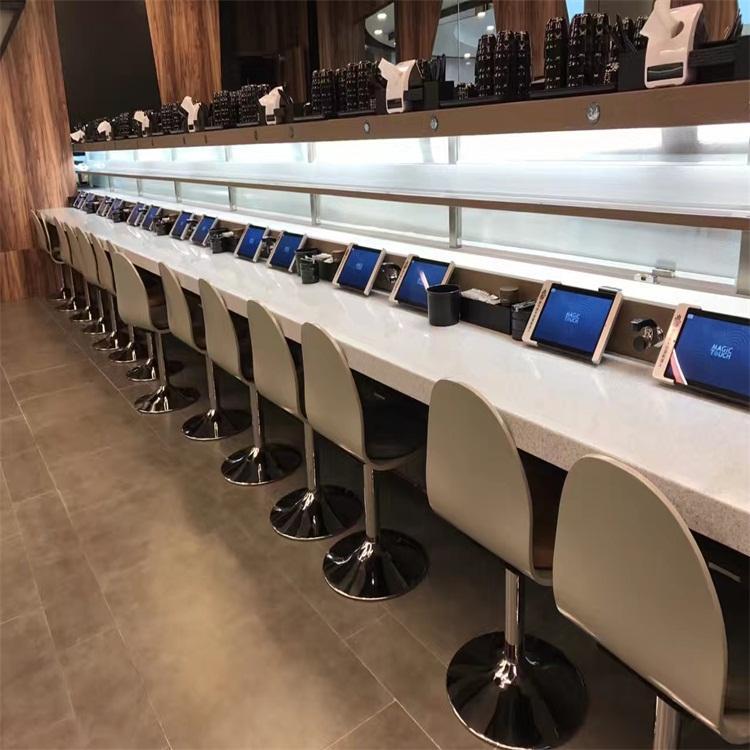 青岛良恩餐厅轨道式车型送餐机器人 智能轨道式送餐设备 智能智能送餐设备