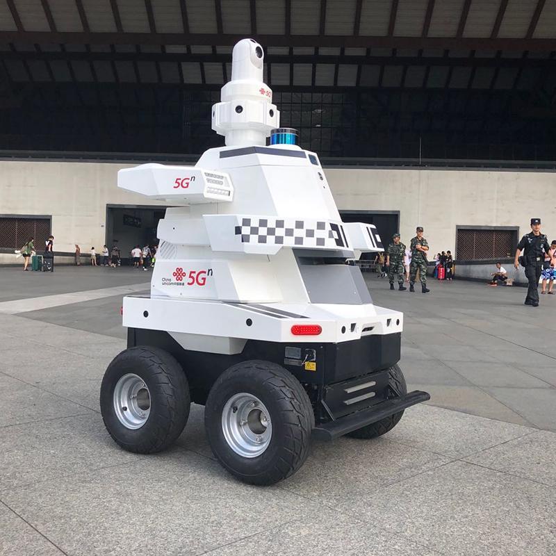 博众机器人厂家 博巡5G安防巡检机器人防水 热成像夜间巡逻机器人 智能安防监控 语音对讲 360°摄像头