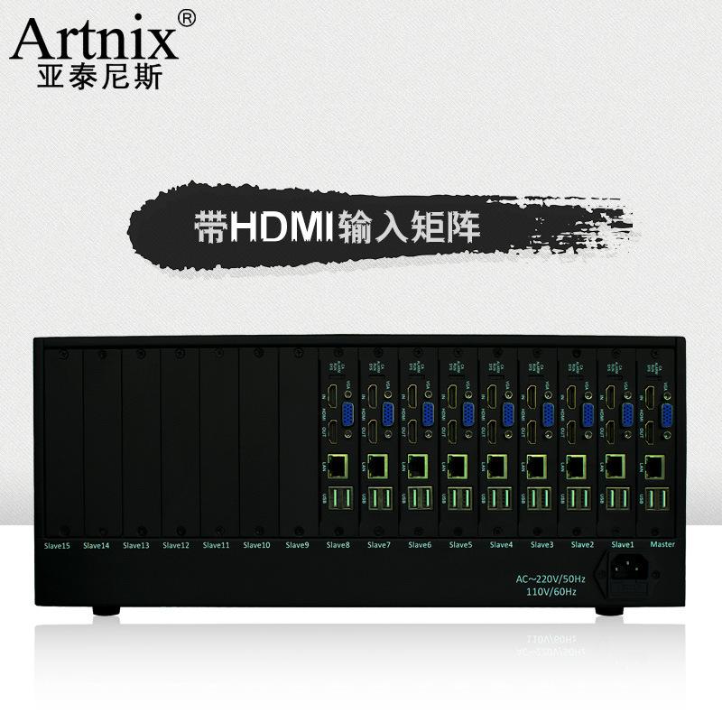 Artnix/亚泰尼斯 四路1080P网络高清视音频矩阵主机 画面分屏割器