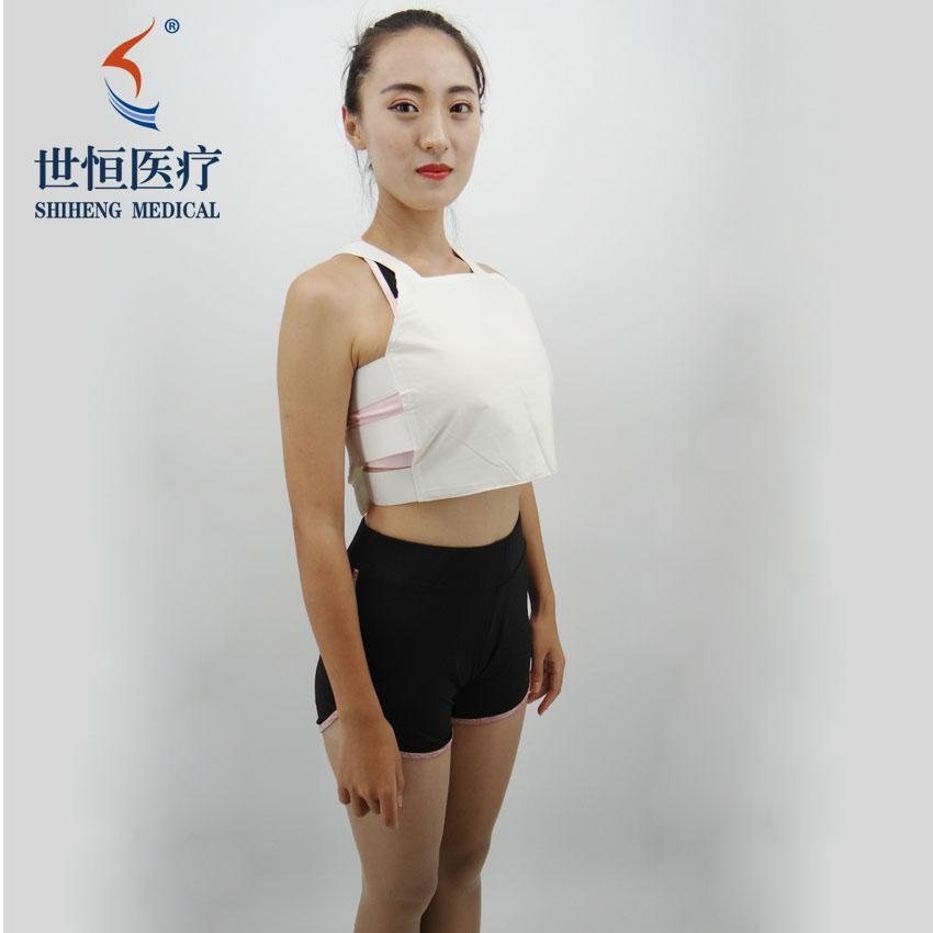 世康恒达全棉白色胸部固定带背心式胸带生产厂家