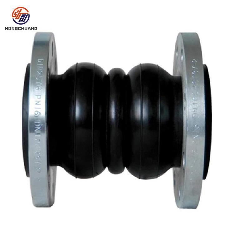 弘创加工定制弹性橡胶软接头 橡胶柔性软接头 异径橡胶接头