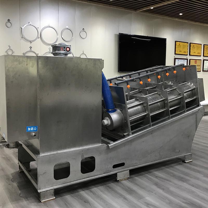 焦化厂污泥叠螺机303 全自动不堵塞叠螺式压滤机 不锈钢叠螺脱水机
