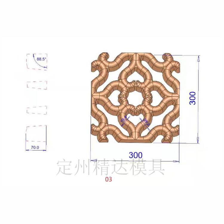 仿古地砖模具 仿古地面砖模具 仿古地砖模型