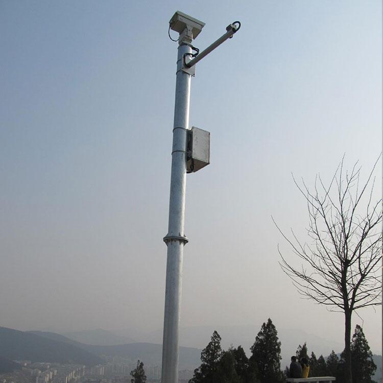 永州摄像机监控立杆定制 卡口监控杆厂家 监控摄像机立杆价格