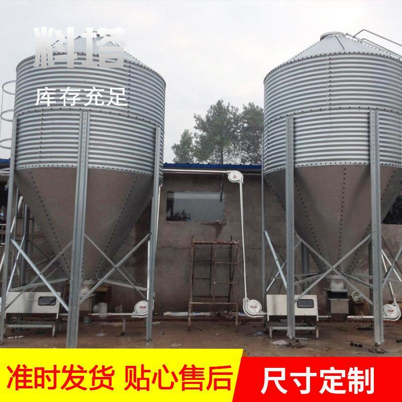 销售养殖场用料塔长期供应 猪场储蓄饲料塔 长泰机械 定制料塔厂家咨询客服