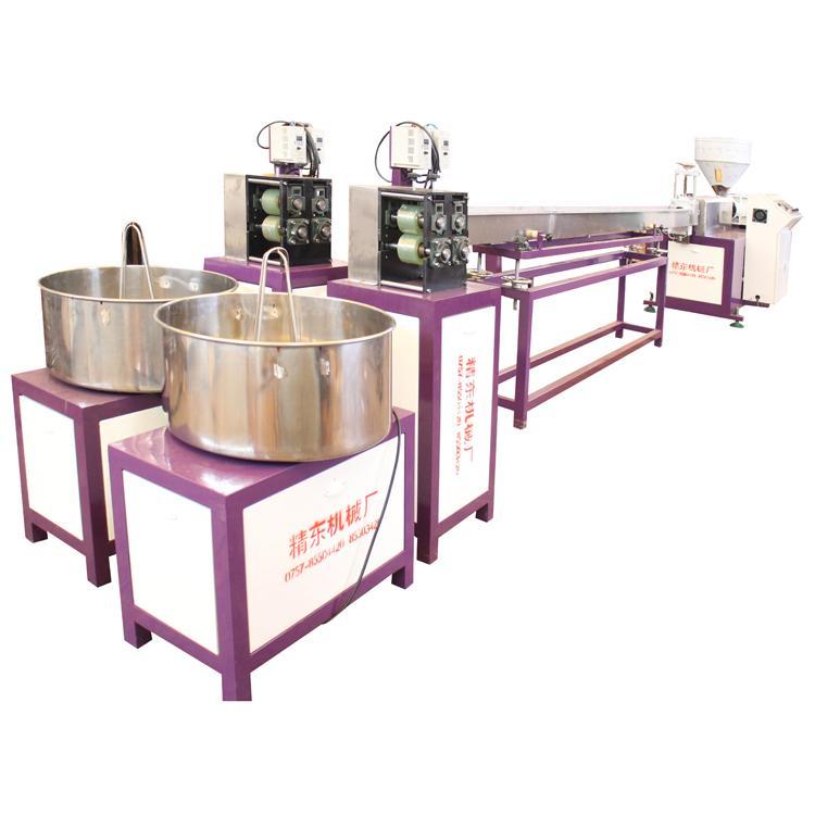精东塑机PE编织仿藤条挤出机生产线 PPPE仿真藤条生产设备 拉藤机
