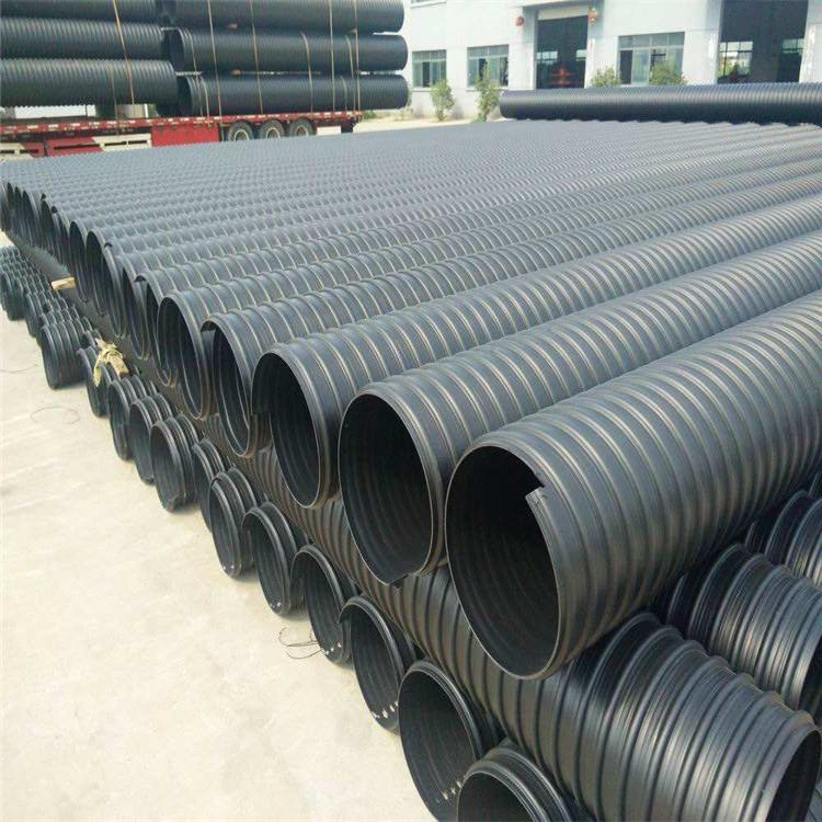 HDPE钢带管批发 宏塑 昆明HDPE钢带管