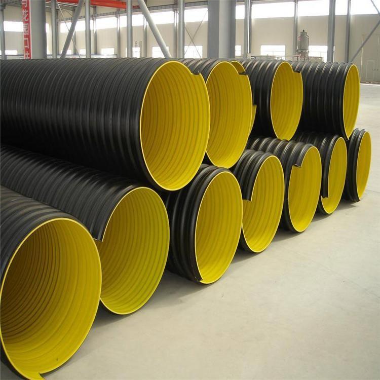 红河HDPE钢带管 宏塑 昆明HDPE钢带管