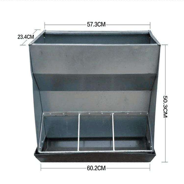 自由采食槽养殖设备猪用不锈钢双面料槽猪 一件代发咨询客服