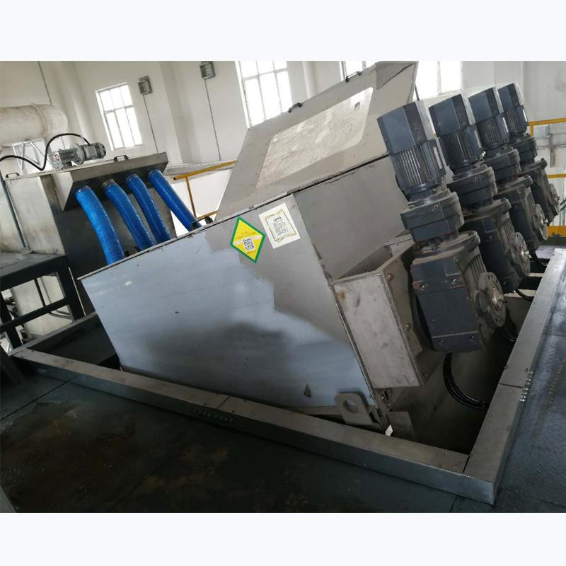 污水厂叠螺污泥浓缩机 节能叠螺脱水机404型 环保设备厂家直供