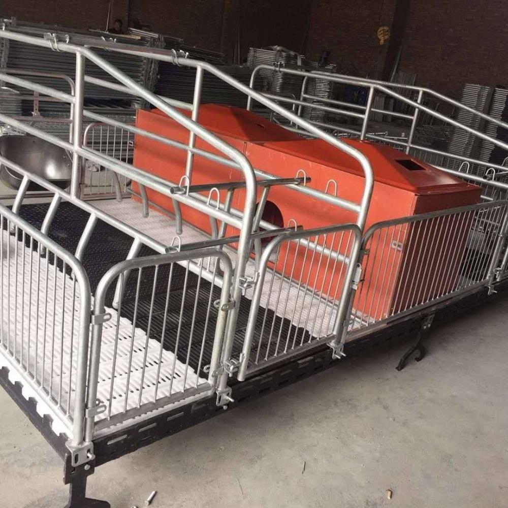 宏栋畜牧-2.2m*3.6m*0.9m-厂商销售铸铁保育床 母猪用双体产床 复合保育床