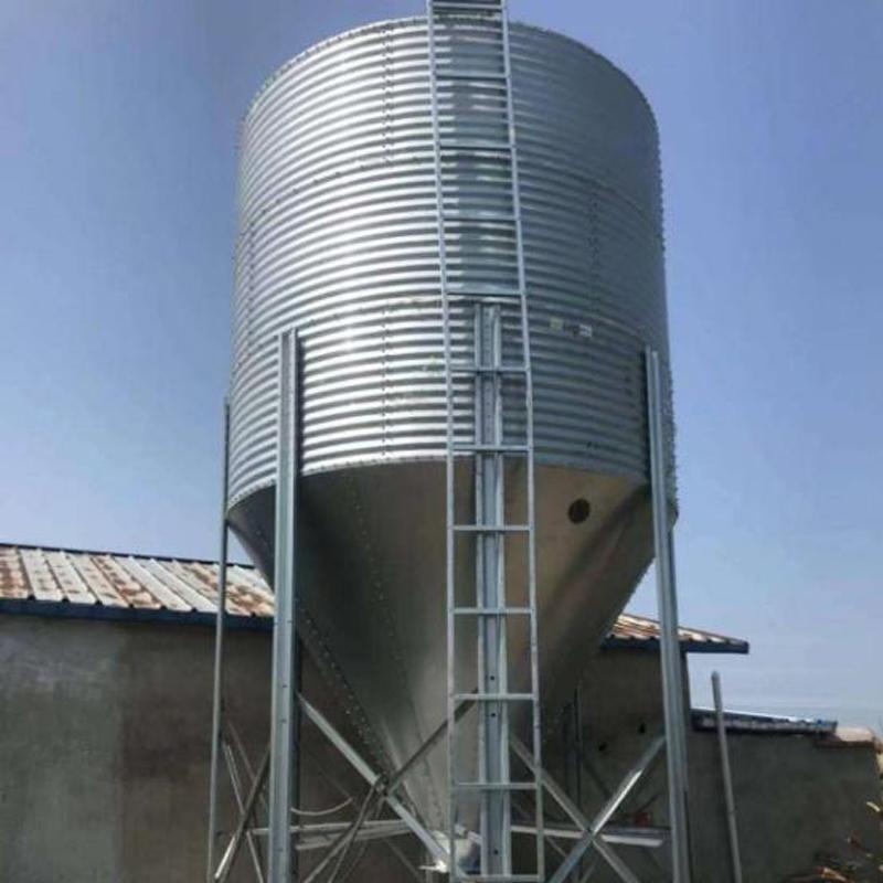 宏栋畜牧-养殖场自动化料线输送 镀锌板料塔 养殖饲料塔-料塔