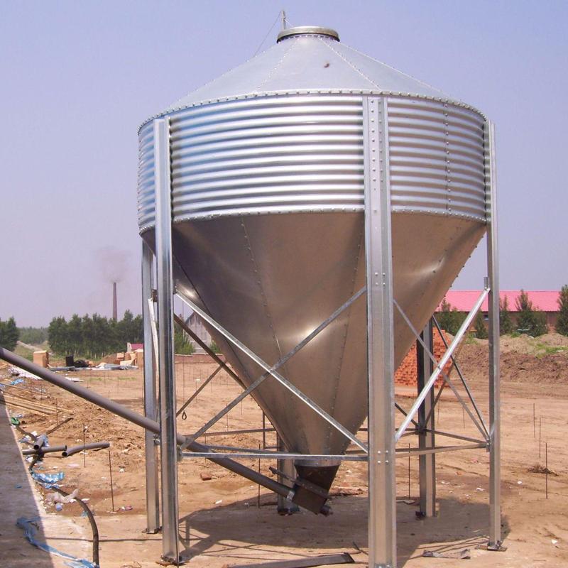 宏栋畜牧 1t-30t 镀锌板料塔 自动化料线料塔 饲料储存料塔 养猪设备料线料塔 料塔