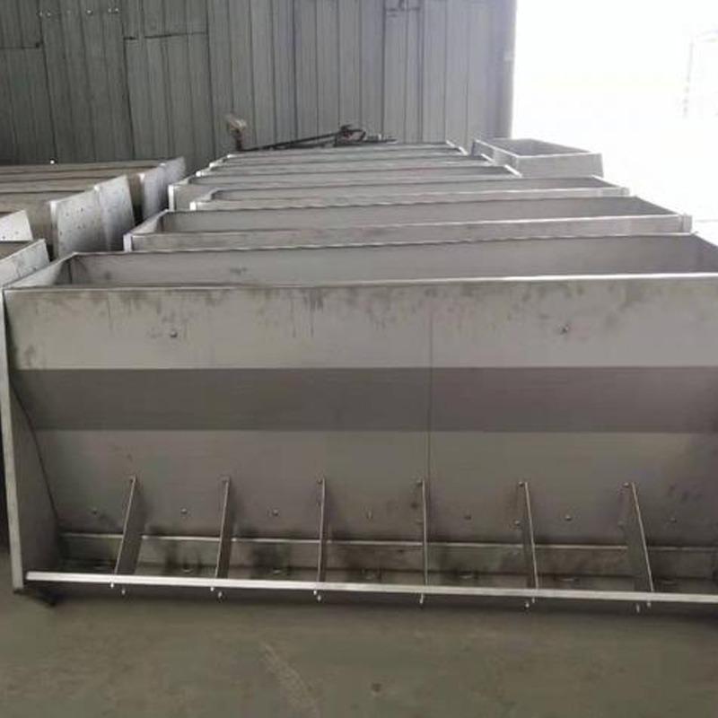 宏栋畜牧-型号1800mm 1500mm 900mm 一体猪饲料食槽 大号猪食槽 单面双面喂食槽子