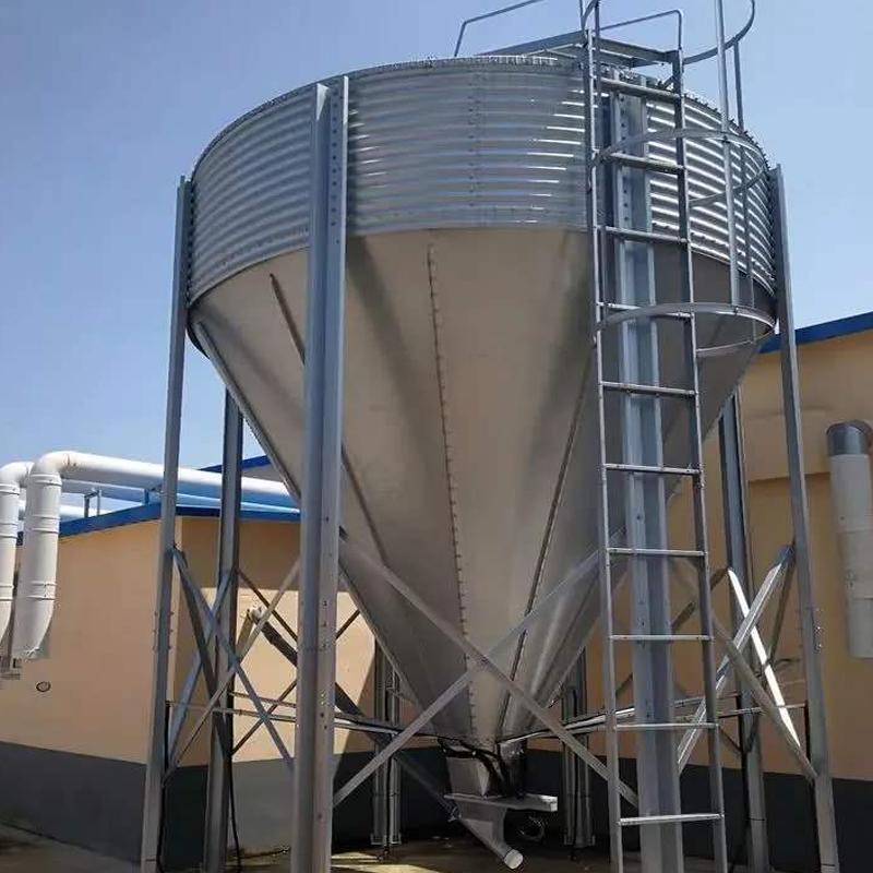 宏栋畜牧-工厂定制 养殖饲料塔 养殖场自动化料线输送