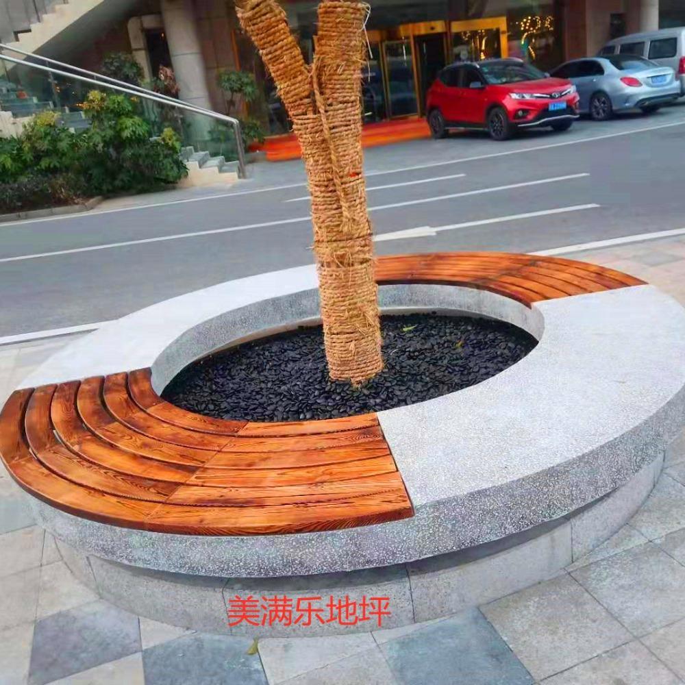 公园坐凳 景观水磨石坐凳 水磨石现浇坐凳 厂家 南京美满乐公司