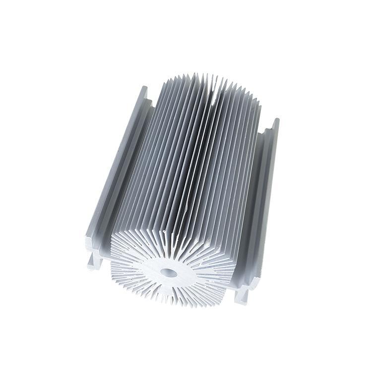 新思特工业铝材厂家 显卡散热器切口整齐 热水器电子散热器