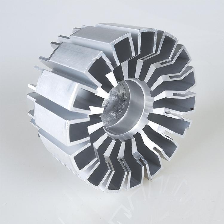 新思特机箱散热器 太阳花散热器工业铝材开模挤压加工定制