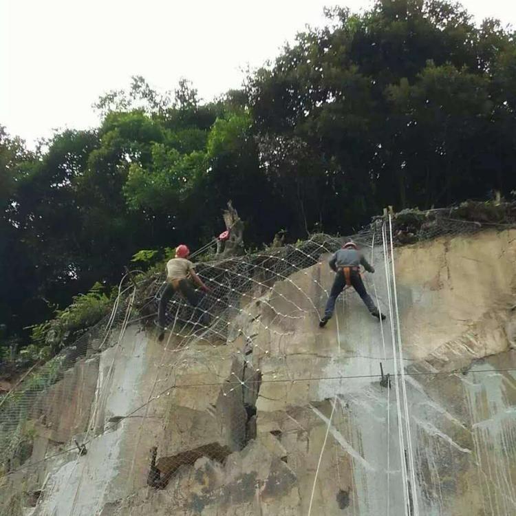 帘式边坡防护网 包山围山防护网 斜坡防护网斯登诺生产厂家