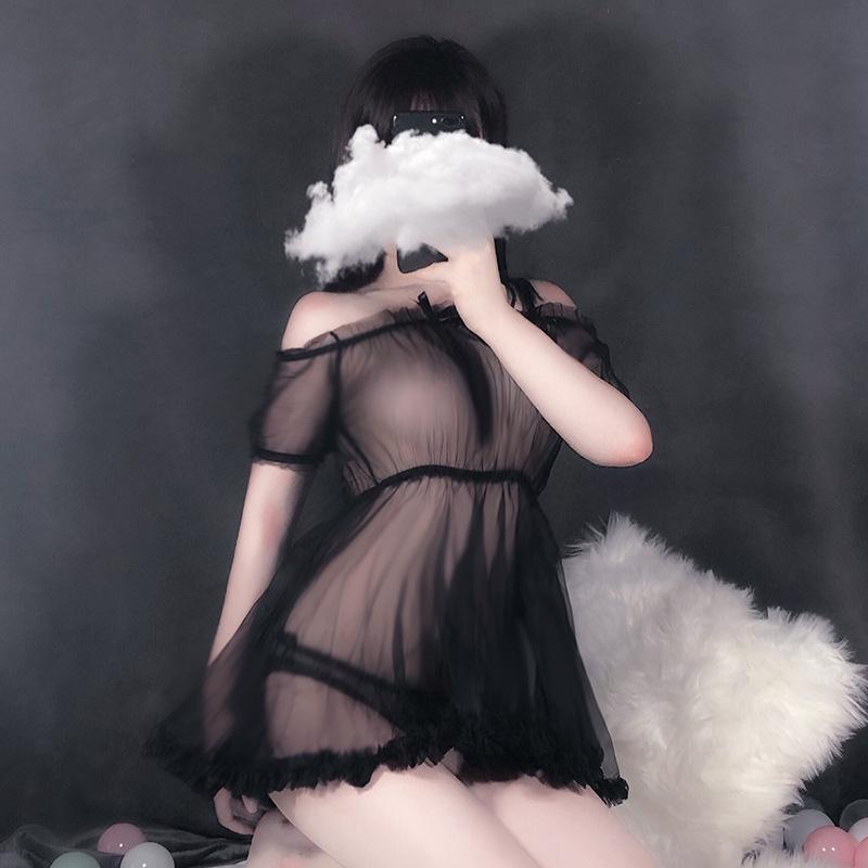 柠檬物语情趣内衣抹胸网纱清纯少女白公主大裙摆透视性感睡裙代理加盟批发