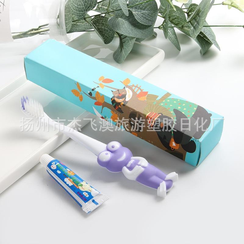 杰飞澳酒店用品3-12岁卡通松鼠儿童一次性牙刷 超细软毛小头厂家卡通厂家直购
