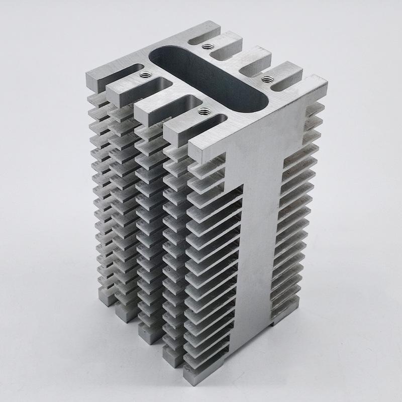 拉丝氧化机箱电器散热器 模块散热器精密打磨 刚柔工业铝材厂家