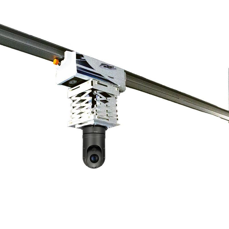 filmptz移动摄像头 轨道巡检机器人移动视频监控摄像机电力巡检猪舍养猪场5G网络远程控制滑行视频