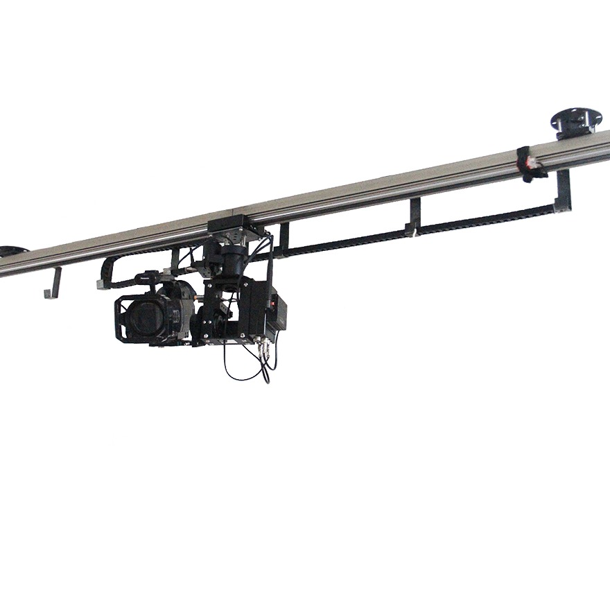 filmptz天轨 空中摄像电轨演播室吊装升降旋转电控天轨吊装轨道机器人追踪俯拍影视摄像机轨道空轨