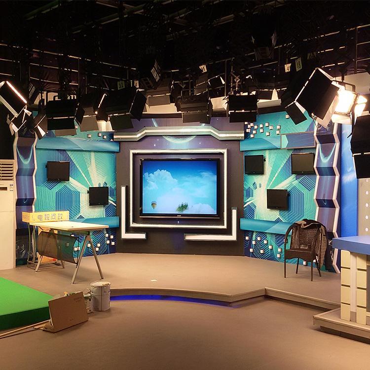 虚拟演播室工程搭建 坤克 高清演播室设计方案 河南演播室装修方案