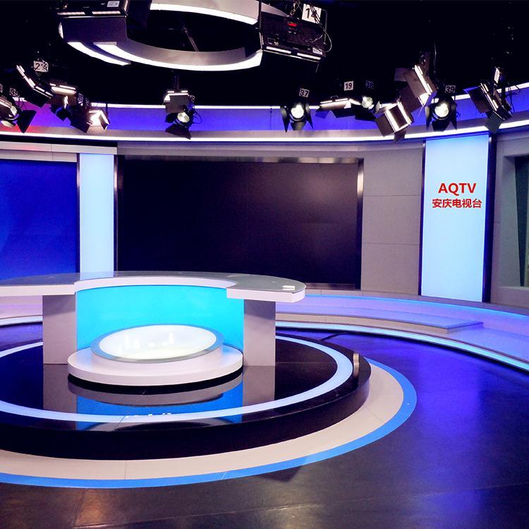 融媒体演播室设计 虚拟演播室施工工程 演播室灯光 坤克
