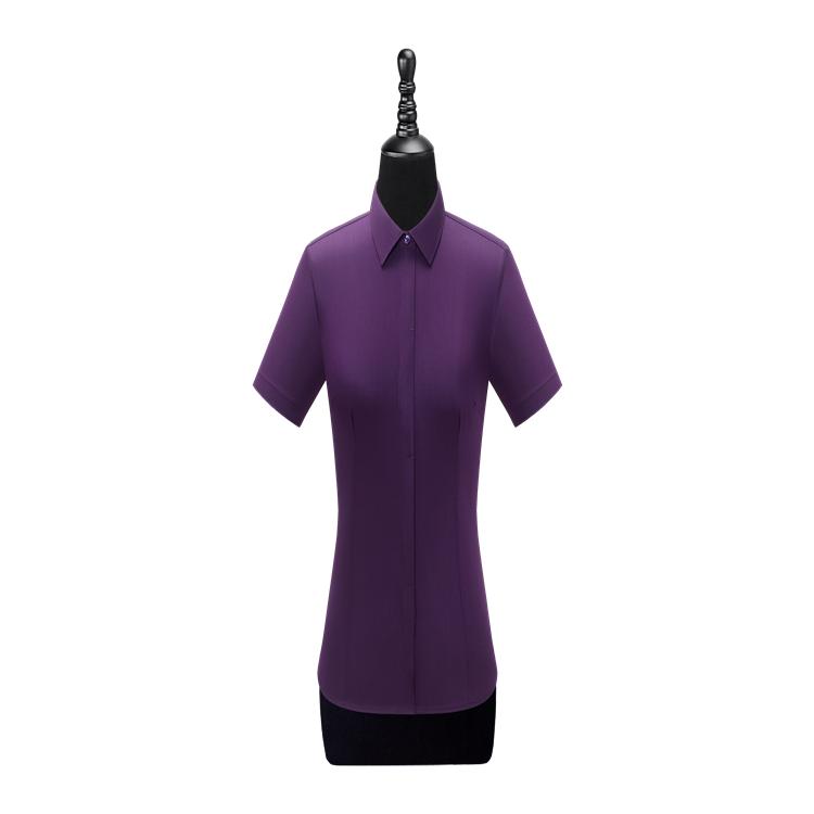宏图 厂家定制 女长袖衬衫W100205 职业装长袖衬衫 女士职业套装定制