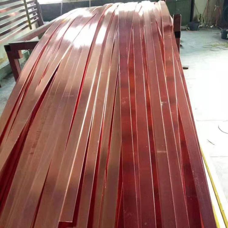拓达供应包钢扁钢40×4mm铜包钢扁铁 铜覆钢扁钢镀铜扁钢厂家供应