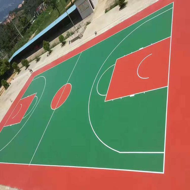 奥烁体育加工定制 复合pu运动场 运动硅PU球场 经验丰富